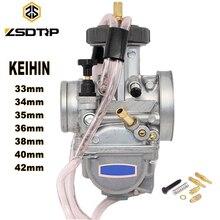 ZSDTRP دراجة نارية KEIHIN PWK المكربن 33 34 35 36 38 40 42 مللي متر سباق أجزاء الدراجات البخارية الترابية دراجة ATV مع الطاقة النفاثة المستخدمة 250cc