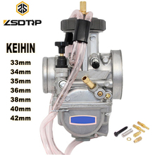 ZSDTRP 오토바이 KEIHIN PWK 기화기 33 34 35 36 38 40 42mm 레이싱 부품 스쿠터 먼지 자전거 ATV 파워 제트 사용 250cc