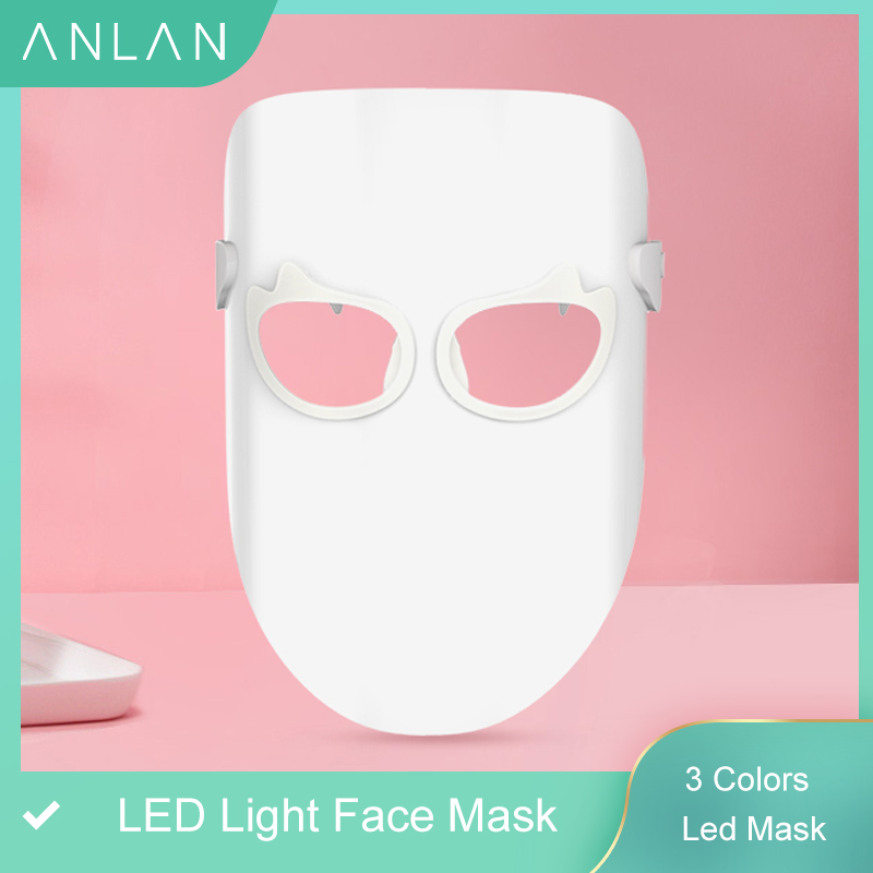 3 Colors Led Mask Photon Electric LED Facial Mask LED Skin Rejuvenation Anti Wrinkle Acne Photon Therapy Home Salon Beauty Tool