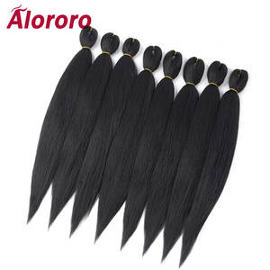 Alororo Braiding-Hair Crochet-Hair Synthetic-Hair-Extension Professional Pre-Stretched
