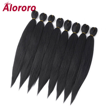 Alororo Easily Braids Pre Stretched Braiding Hair Low Temperature Fiber Synthetic Extension Professional Crochet - discount item  41% OFF Synthetic Hair