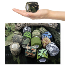 Cohesive Wrap Bandages 1inch Camouflage Elastic Self Adhesive Tapes 25mm For Tattoo Grip Sport Protection Pet Injury 24rolls/lot 6pcs pack 1x5yards color elastic self adhesive non woven bandages cohesive wrap bandages tapes for emergency wound treatment