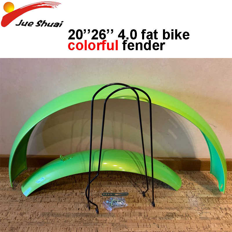 4.0 fat tire Bike Mud Guards Fender Set for 20''26''x4.0 Snow Beach Bicycle Mudguards Cycle Accessories MTB Demolition Bicycle