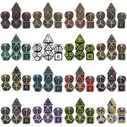 Dados Rpg Dice Table Games Sales Promotion Polyhedral Metal Dices Zinc Alloy Numerical Dnd Dice 7 Set D4 D6 D8 D10 D12 D20