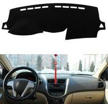 Dashboard Cover for Hyundai Solaris/Accent/Verna 2012 2013-2015-2017 Sun Shade Dash Board Anti-slip Dash Mat Pad Dashmat Cover