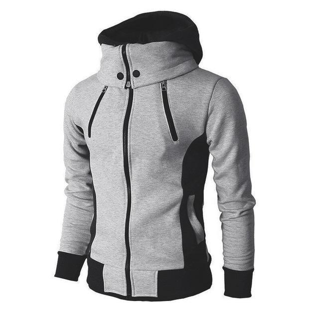 Zipper Hooded Sweatshirt Men Fashion 2020 Spring Casual Patchwork Fleece Warm Hoodies Sweatshirts Male Streetswear Coat Jackets