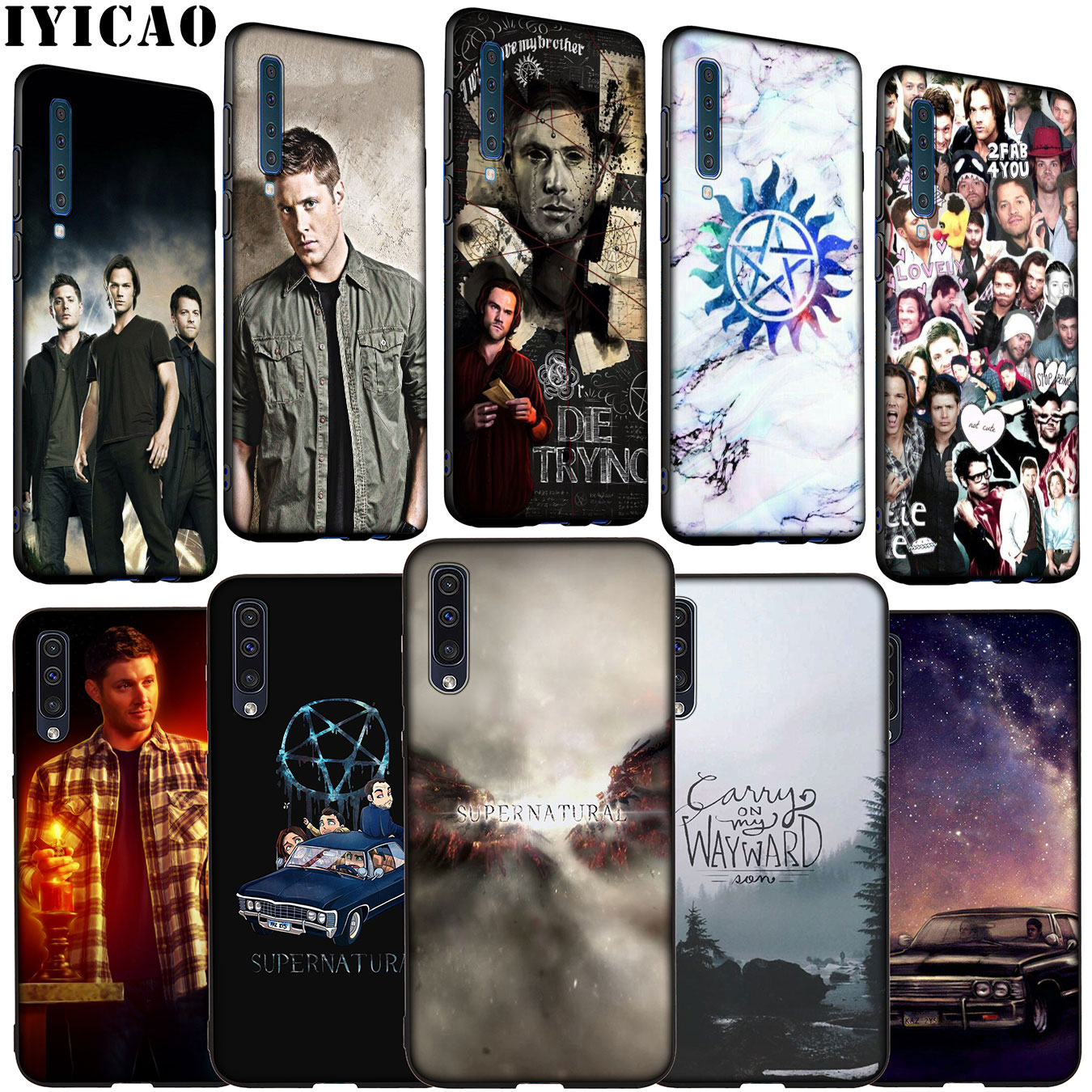 Supernatural Jared Padalecki Soft Silicone Phone Case for Samsung Galaxy A70 A60 A50 A40 A30 A20 A10 M10 M20 M30 M40 A20E Cover image