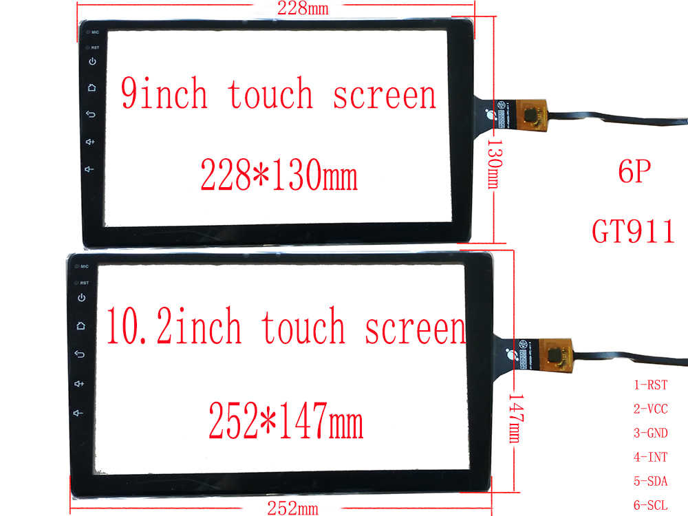 شاشة HDMI 9 10.1 10.2 بوصة من Carpc لتقوم بها بنفسك 1366*768 IPS شاشة 1280*720 عالية السطوع محول رقمي USB يدعم التوت Pi WIN10