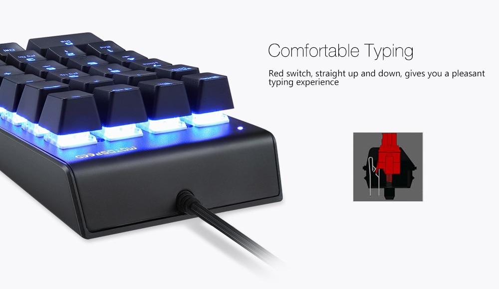 teclado mecânico numérico com interruptor de caixa