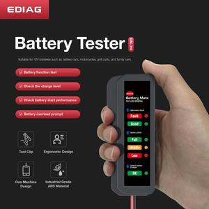 Image 2 - 2020 EDIAG BM310 BM410 Batteria Auto Tester & brake fluid tester 12V 24V Digitale di Prova 6 /7LED luci Display OBDII auto di Alta Qualità
