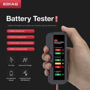 Image 2 - EDIAG probador de batería de coche BM310 BM410, probador de líquido de frenos, 12V, 24V, Digital, 6 /7LED, pantalla OBDII, alta calidad, 2020