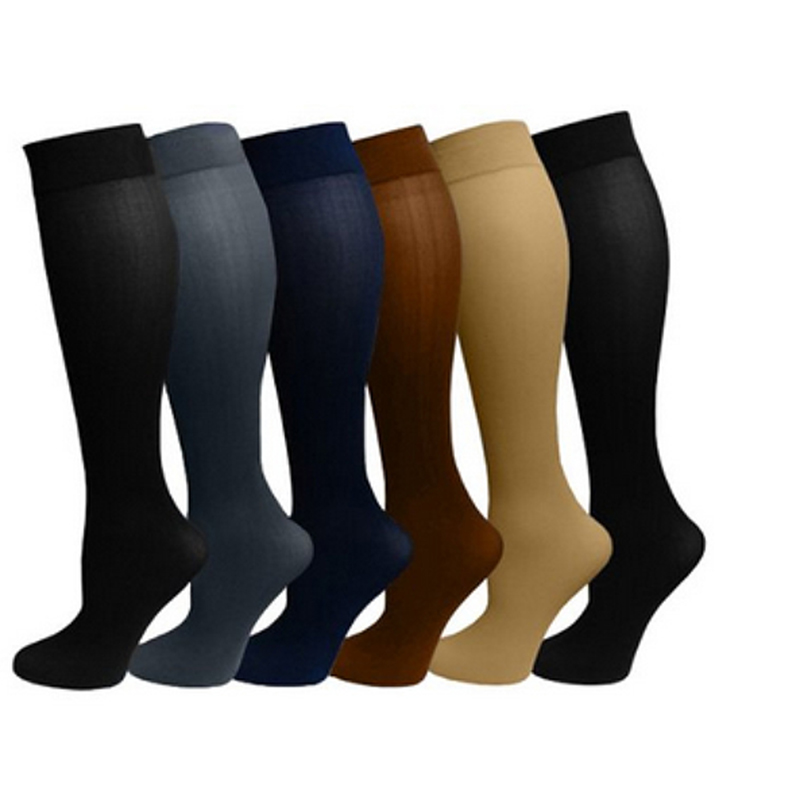 Multi - Color Pressure Varicose Veins Leg Compression Socks Relief Pain Knee Sport Socks Support Stretch Breathable Soccer Socks