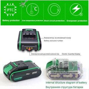 Image 4 - 21V 핸드 전기 드릴 2 속도 전동 공구 무선 드릴 리튬 이온 배터리 드릴 전기 스크루 드라이버 미니 드릴링 스크루 드라이버
