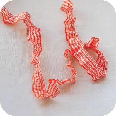 1M Neuesten Guipure-spitze Trim Elastische Falten Streifen Rot Spitze Stoff Hochzeit Kleid Nähen Zubehör Verzierungen Für Kleidung LX43