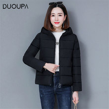 DUOUPA 2019 Autumn and Winter New Cotton Fashion Womens Short Hooded Loose Down Casual Jacket Bread Clothing Female