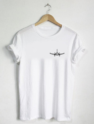 Airplane - T-shirt Shirt Gift Flying Travel Air Mens Womans Lover Shirts Tees Plane Kids Youth Adult Vacation-J792