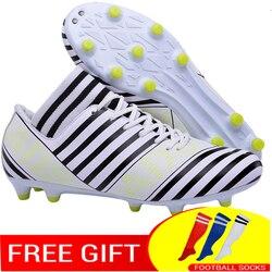 Wysokiej korki piłkarskie buty dla mężczyzn z skarpetki piłkarskie zawodowe piłkarskie botki Boot
