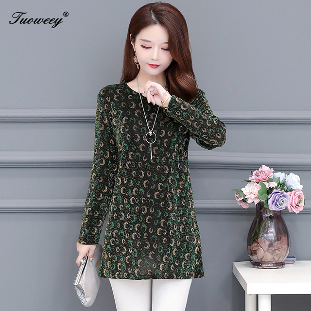 2020 New Women Shirt Floral O-neck Long-Sleeved Printedelegant 5XL Shirt Hot Autumn Spring Female Casual Blouse 5