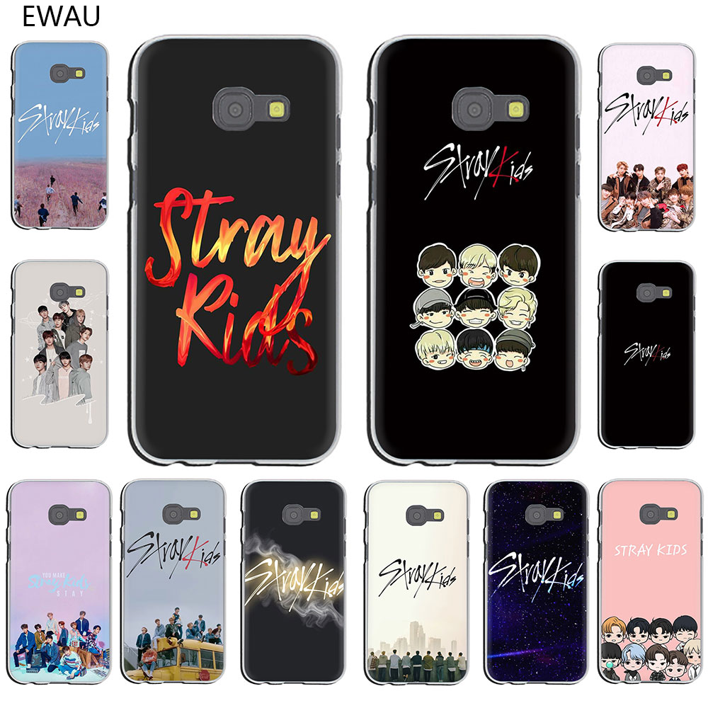 EWAU Stray Kids kpop hard Phone Case for Galaxy J7 J6 J5 J3 J2 J1 2015 2016 Prime 2017 EU US Version image