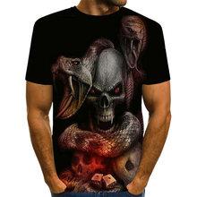 Uney футболка со змеиным черепом для мужчин американский размер