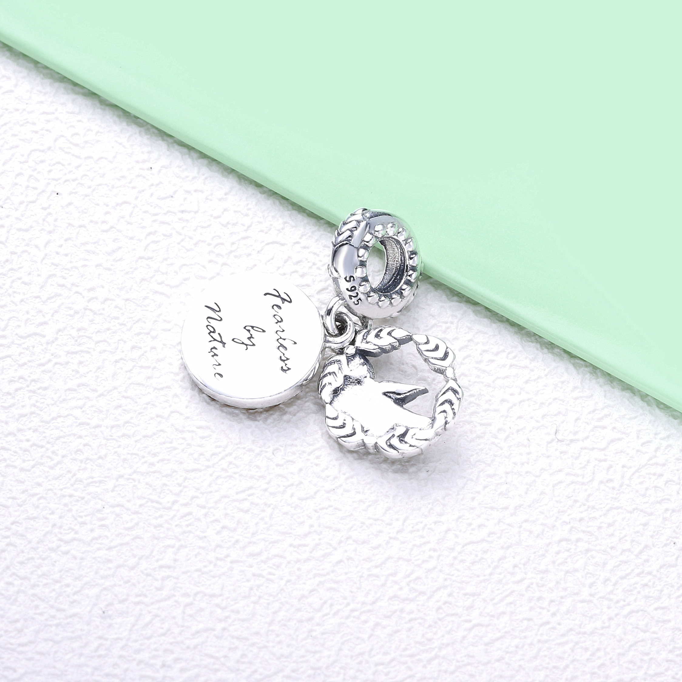 Cute Girl Fit Silver Pendents For Women CLOVER JEWELLERY