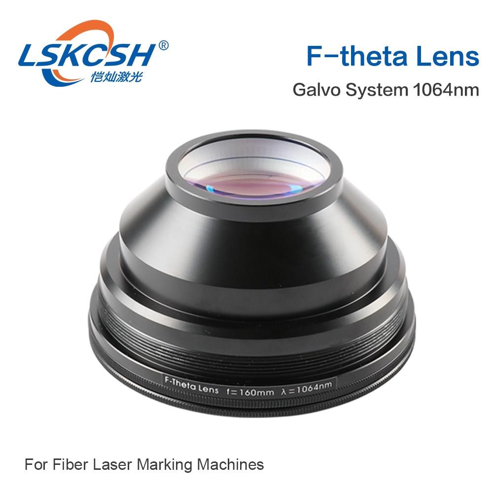 Lente de campo 1064nm 50x50-300x300 F63-420mm da lente da varredura de lskcsh f-theta para peças da máquina da marcação do laser da fibra ótica de 1064nm yag