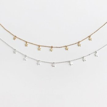Party New Simple Women Necklaces Boho Woman Choker Gold Silver Chain Star Necklace&Jewelry Gifts for Wedding Pentagram jewelrys simple gold color 3d heart pendant choker necklaces for women new fashion trendy chain necklace collar jewelry gifts