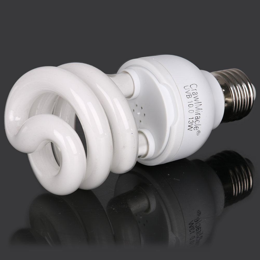 5.0 10.0 UVB 13W Reptile Light Bulb UV Glow Lamp For Vivarium Terrarium Tortoise ES-E27 Energy Saving Lamps Dropshipping