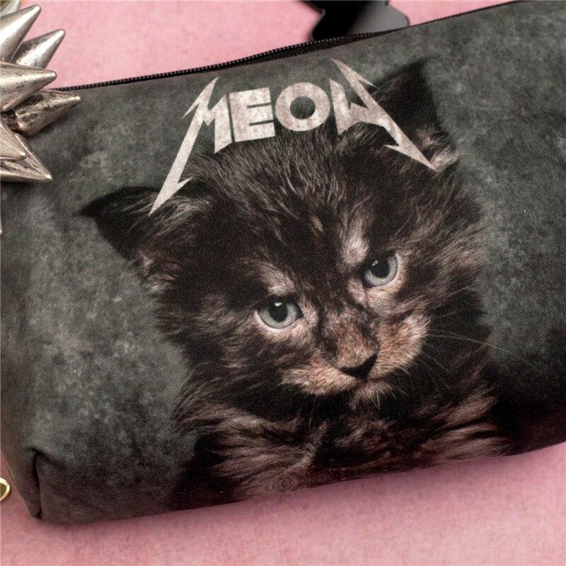 Trousse à maquillage imprimée Chat Meow Créer Son T Shirt
