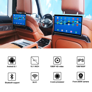 10.1 inch Android 8.1 car headrest Monitor video player HD IPS touch screen WIFI Bluetooth Car display USB SD ultra-thin camera