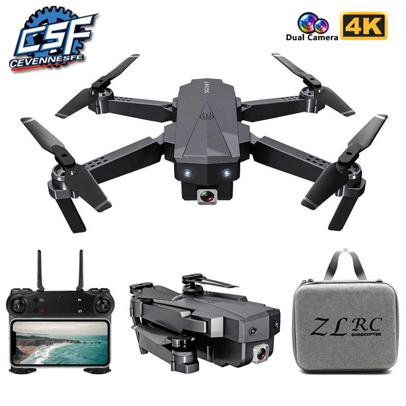 2020 nouveau Mini Drone SG107 avec 4K HD WIFI 1080P FPV caméra 2.4GHZ quadrirotor flux optique Quadrocopter caméra jouets VS E58 E68