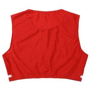 Image 5 - Conjunto de 2 uds. De uniforme de animadora para adultos traje de Cosplay de escenario, Top corto sin mangas con cuello redondo y minifalda plisada