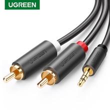 Ugreen RCA 3,5mm jack Kabel 2 RCA Stecker auf 3,5mm Stecker Audio Kabel 1M 2M 3M Aux Kabel für Edifer Heimkino DVD Kopfhörer PC