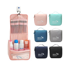 Adhesive Hook Wash Bag Travel Portable Large Capacity Memory Spinning Storgage Bag Multi-functional Makeup Bag