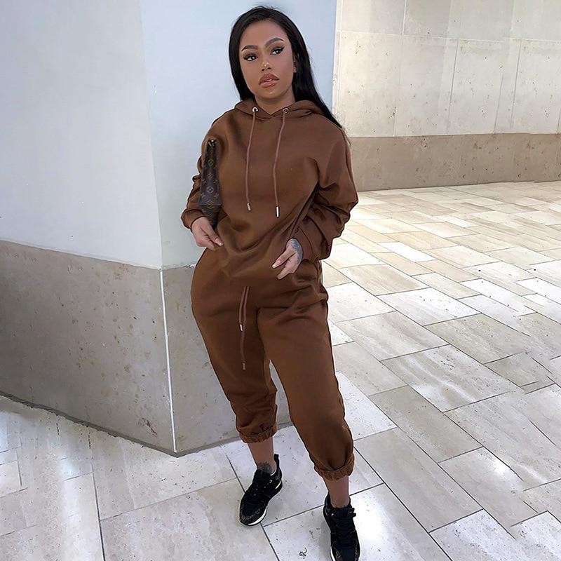 hirigin 2020 Winter Fashion Outfits for Women Tracksuit Hoodies Sweatshirt and Sweatpants Casual Sports 2 Piece Set Sweatsuits