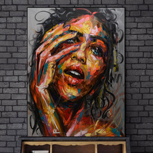 Abstract Woman Face Oil Paintings Print On Canvas Art Posters And Prints Modern Woman Wall Art Pictures For Living Room Cuadros african large lions face canvas paintings on the wall art posters and prints animals lions art pictures for living room cuadros
