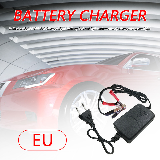 12V 1A Battery Charger Personal Car Elements Car Motorcycle Easily Installation for VRLA SLA Sealed Lead Acid Battery​