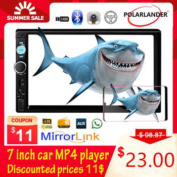 Car Stereo MP5 Radio MP3 Universal 2 DIN 7 inch HD Touch Screen Autoradio 7 Background Lights Mirror Link radio cassette player image