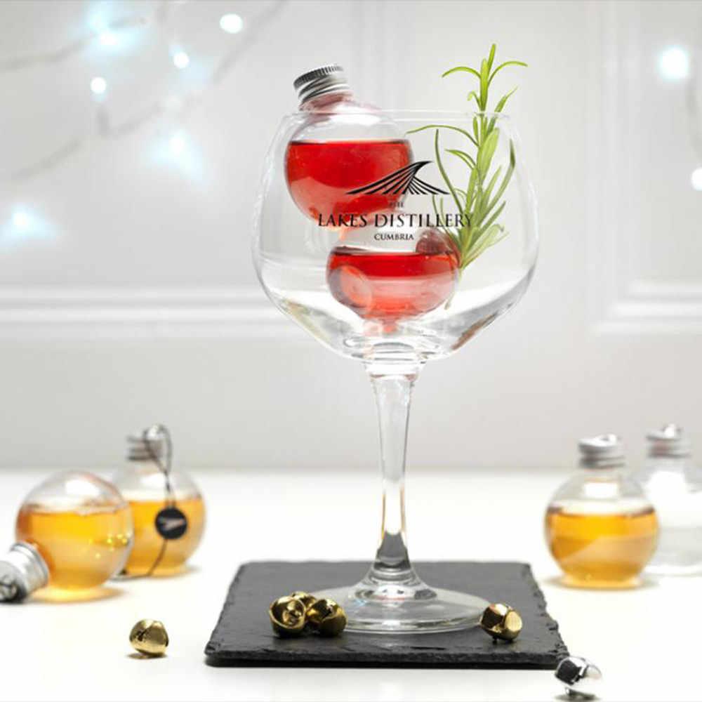 1/6 חבילה אלכוהול מלא חג מולד עץ קישוטי מים בקבוק חלב מיץ נורות כוס חג המולד קישוטים לבית 6*6cm