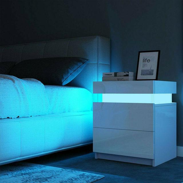 RGB LED Night Table Lighting Cabinet  1