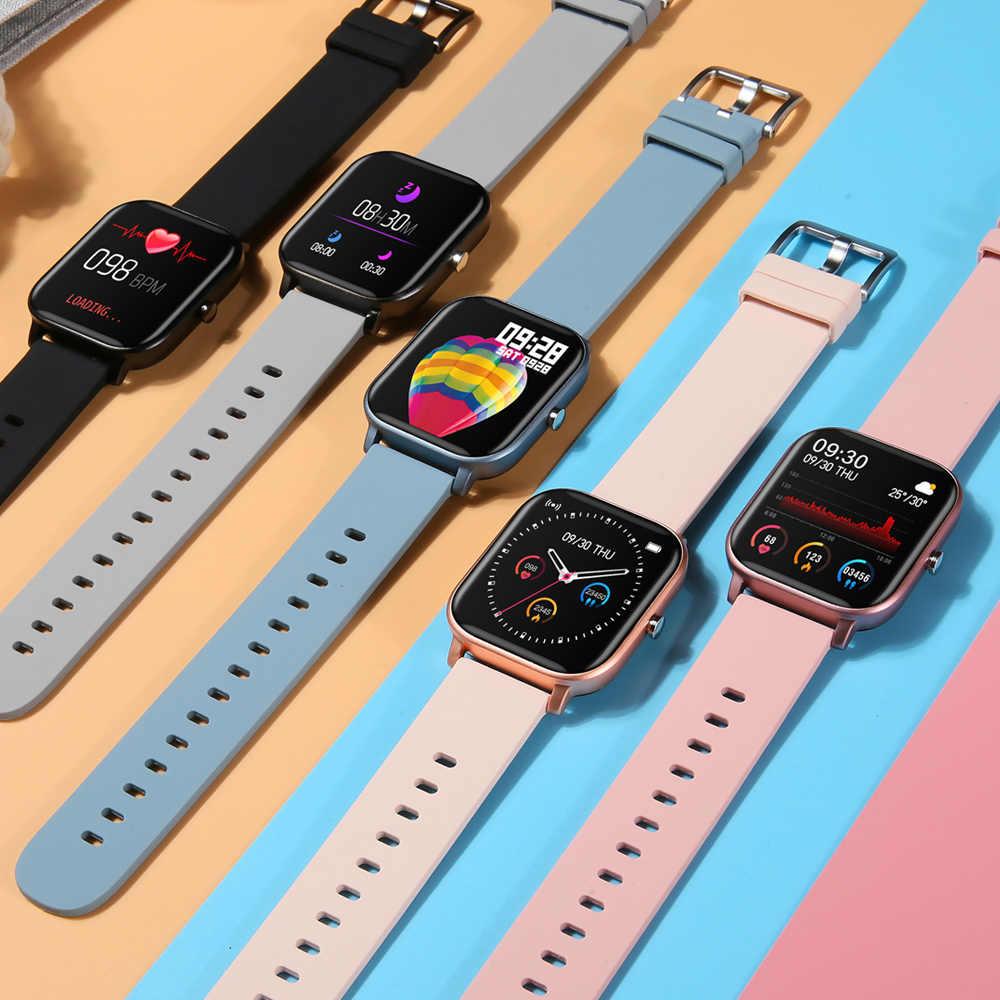 P8 inteligentny zegarek mężczyźni kobiety IP67 wodoodporny Fitness Tracker Sport pulsometr pełny dotykowy Smartwatch dla Xiaomi Amazfit Gts