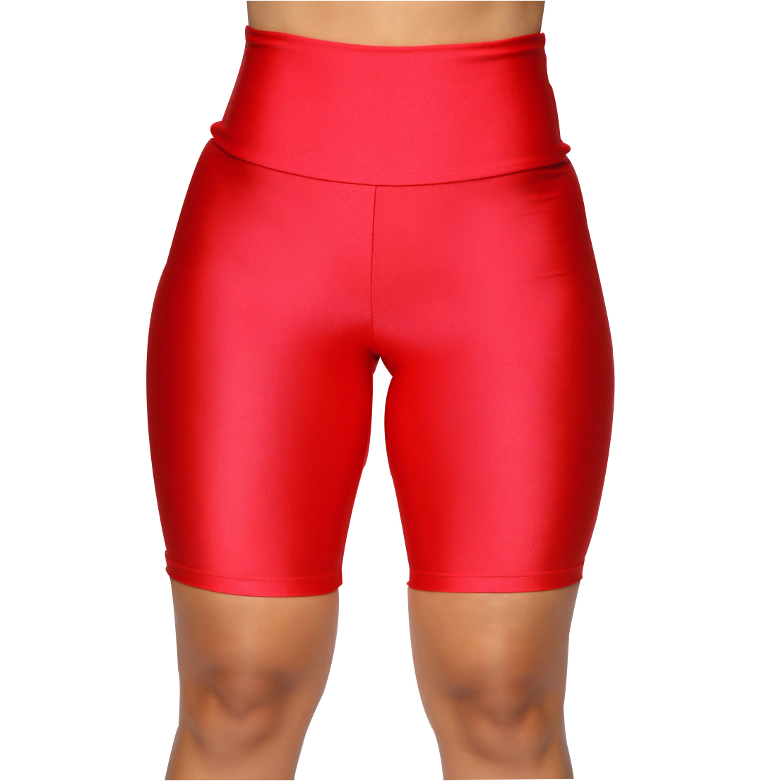 Hb0dab9c9ceae47a89b82972c0256096eF - Womens Plain Sports Gym Cycling Skinny Fit High Waist Shorts Lady Summer Casual Solid Basic Stretchy Bodycon Short Pants