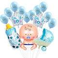 1 Set Baby Dusche Baby Junge Mädchen Folie Ballon seine ein junge mädchen Baby Dusche Luftballons Kinder 1st Geburtstag Party dekorationen lieferungen-in Party-DIY-Dekorationen aus Heim und Garten bei