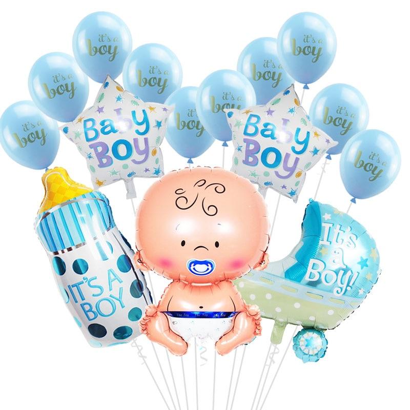 1 ensemble bébé douche bébé garçon fille feuille ballon son un garçon fille bébé douche ballons enfants 1st fête danniversaire décorations fournitures