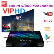 VIPHD IPTV Neo Pro Android X88 King Arabic Africa French Tunisia Code X88 Smart Set Top Tv Box Volka IPTV(China)