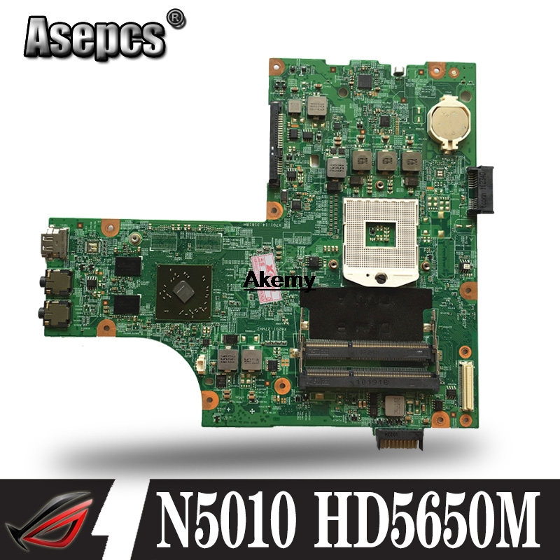 09909-1 For <font><b>DELL</b></font> inspiron <font><b>N5010</b></font> CN-0VX53T 0VX53T VX53T 09909-1 48.4HH01.011 HM57 without GPU Free CPU original Test <font><b>motherboard</b></font> image