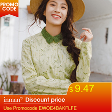 INMAN 2019 New Products Women Spring Clothes Embroider Lapel Blouses Shirts Tops(China)