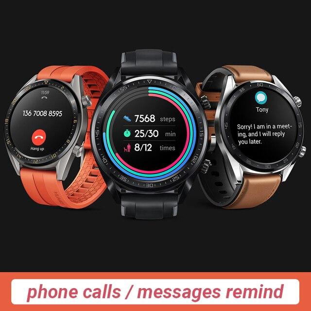 Versión global HUAWEI Watch GT Smart Watch 1.39  Pantalla AMOLED 14 días Batería 5ATM Impermeable Ritmo cardíaco Tracker