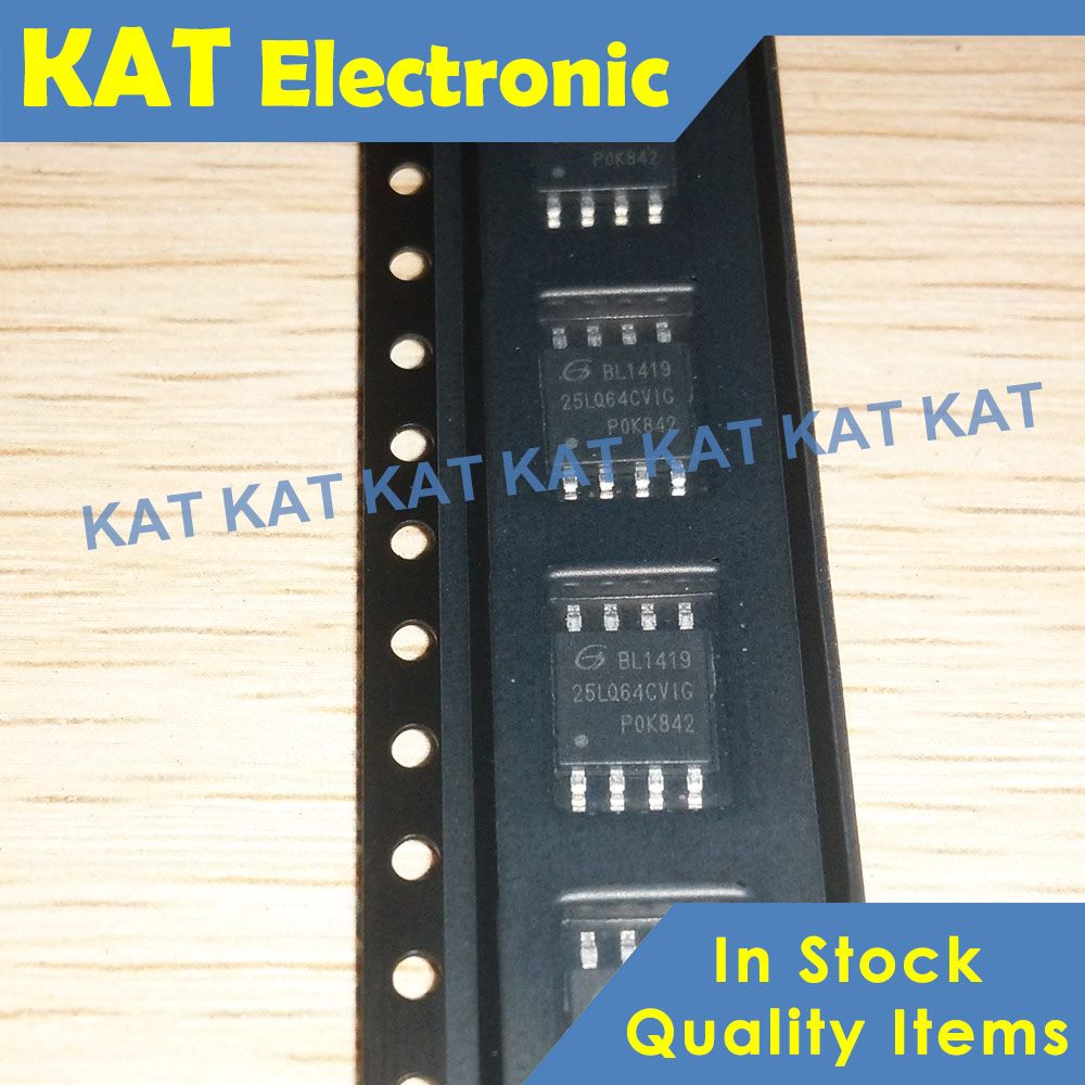 5PCS/Lot GD25LQ64CVIG 25LQ64CVIG 25LQ64CV1G GD25LQ64C 1.8V Uniform SectorDual And Quad Serial Flash