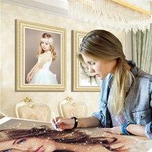 Diamond Embroidery Painting Mosaic-Art-Kits Huacan Full Home-Decoration Round Photo Custom